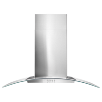"Whirlpool® 36"" Concave Glass Wall Mount Range Hood"